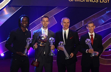 Hušbauer named player of the season, Sparta and Plzeň take awards at gala evening